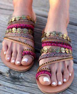НАМАЛЕНИЕ на сандали и чехли еко кожа