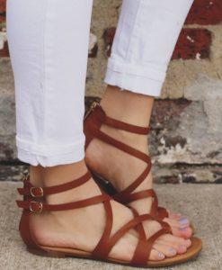 НАМАЛЕНИЕ на сандали и чехли естествена кожа