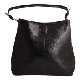 Дамска чанта 01-17-166-8 черна с три прегради