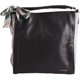 Дамска чанта 01-17-165-1 черна с панделка
