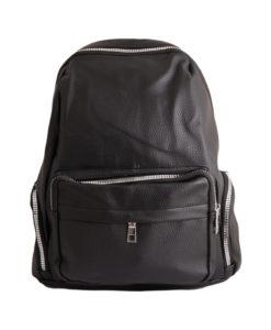 Дамска чанта 01-17-165-52 тип раница цвят черен