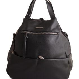 Дамска чанта 01-17-165-50 тип раница цвят черен