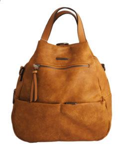 Дамска чанта 01-17-165-51 тип раница цвят жълт