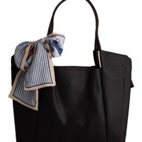 Дамска чанта 01-17-164-50 черна с панделка