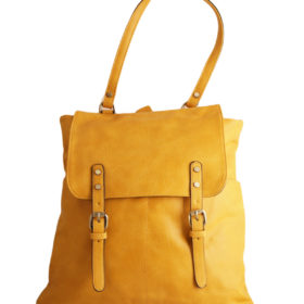Дамска чанта 01-17-164-54 тип раница цвят горчица