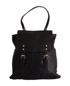 Дамска чанта 01-17-164-55 тип раница цвят черен
