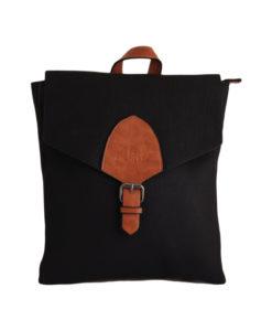 Дамска чанта 01-17-164-57 тип раница цвят черен