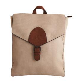 Дамска чанта 01-17-164-58 тип раница цвят бежов