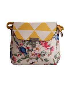 Дамска малка чанта 01-17-163-77 на цветя