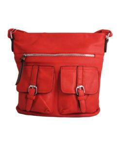 Дамска малка чанта 01-17-163-78 червена с два джоба