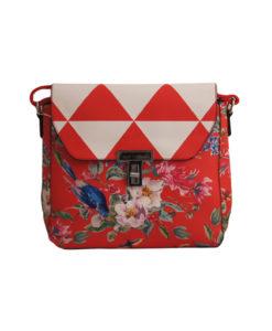 Дамска малка чанта 01-17-163-76 на цветя