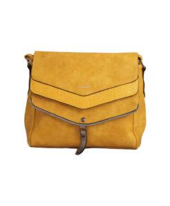Дамска малка чанта 01-17-163-70 жълта със сребърно